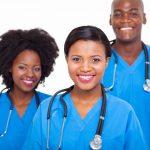group of african medical doctors portrait